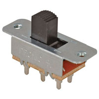 View 35-222-BU: DPDT Slide Switch (on-on) Double Pole Double Throw Extended Top Slide 6 Amp 250VAC