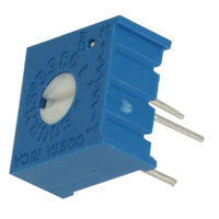 View 3386P-1-504/63P504: Potentiometer 3/8 Inch Square Single-Turn Cermet