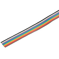 View 28RC10-10VP: 10 Conductor Multicolor Flat Ribbon Cable -10 Feet