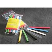 View 051135-37677: 133 Piece 6 Inch Polyolefin Heat Shrink Tubing Kit -Assorted Colors and Diameters