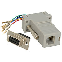 View 31D1-16400: DE9 FEMALE-to-RJ11 Adapter (Networking/Telecom)