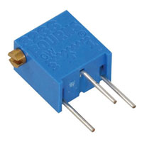 View 3266X-1-503/64XR50K: 3266 Resistor Trimmer 50K Ohm 10% 1/4W 12TURN 1.78MM Pin Thru-Hole