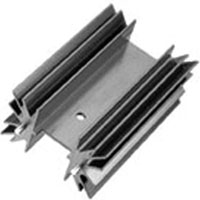 View 530002B02500G: Heat Sink Passive TO-220 Radial Solderable Pins 2.6°C/W Black Anodized