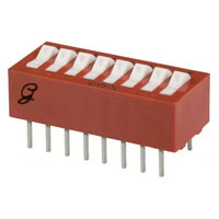 View 76SB08ST: SPST Standard Rocker-Raised DIP Switch 16 Pin, 8 Position