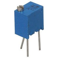 View 3266W-1-501LF: Potentiometer Sealed Cermet 1/4IN 12TURNS 50010% Top W Bulk Hazmat