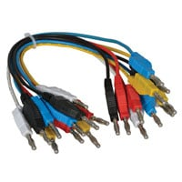 View KLN-4-25/H-R: 10 Pack of Short Test Lead Cables -Banana to Banana