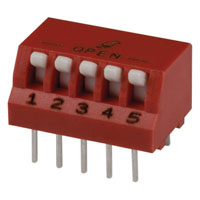 View 76PSB05ST: 76 Series Thru-Hole DIP Switches SPST Rocker