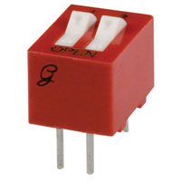 View 76SB02T: 76 2 Position Thru-Hole DIP Switches SPST Rocker