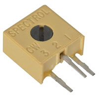 View 3386X-1-203/63X/72XR: 20KΩ Square Cermet Trimmer Potentiometer