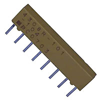 View 4308R-101-104: 4300R Resistor Molded SIP 8PIN Bussed 100K 2% Low Bulk 100KOHM