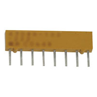 View 4308R-102-103LF.: 4300R Resistor Molded SIP 8PIN Isolated 10K 2% Low Bulk 10KOHM