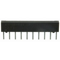 View 4310R-101-103: 4300R Resistor Molded SIP 10PIN Bussed 10K 2% Low Bulk 10KOHM