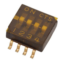 View 218-4LPST: SPST DIP Switch Half Pitch SMT 4SWITCH
