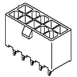 View 39-29-9066: 5566 Mfti-Fit Header Assembly 6CKT (Rectangular Connectors)