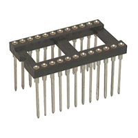 View 6100-24W-R: 6100 24 Pin Machine Tooled IC Socket 0.6 Inch Wide
