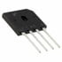 GBU4B: Diode Rectifier Bridge Single 100V 4A 4 Pin Case GBU