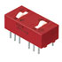 76SD02ST: DIP Switch 2 Position on off Double Pole Double Throw 0.15 Amp @ 30 Volt Raised Rocker