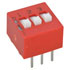 206-3: Standard Slide-Raised DIP Switch 6 Pin, 3 Position