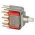 8225SD3V3BE: DPDT Pushbutton Switch 0.4VA 20VAC (Push Button)