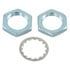 3/8 -32HDWR: 3/8 Inch Hardware 2 Hex Nuts, 3/8-32 NEF Thread