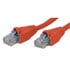 10X8-225-07: 10X8 Cable CAT 6 Patch RED 7 Foot RJ45 Molded Boot