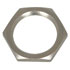9/16-27HN: Hardware Hex Nut Brass Plated Nickel