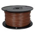 818-1-500: 500 Ft 22 AWG Dual-Rated Stranded Hook-Up Wire -Brown