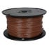 822-1-500: 500 Ft 18 AWG Dual-Rated Stranded Hook-Up Wire -Brown
