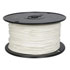 822-9-500: 500 Ft 18 AWG Dual-Rated Stranded Hook-Up Wire -White