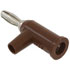 1825-1: Brown Standard Solderless Stackable Banana Plug with Safety Collar 10 Pack