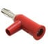 1825-2: Red Standard Solderless Stackable Banana Plug with Safety Collar 10 Pack