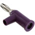 1825-7: Violet Standard Solderless Stackable Banana Plug with Safety Collar 10 Pack