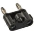 MDP-0: Black Stackable Double Banana Plug with Cable Guide
