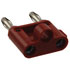 MDP-2: Red Stackable Double Banana Plug with Cable Guide