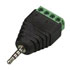 CD028: 2.5MM Stereo Plug to 4P Screw Terminal (5 Pack) Max. Voltage: 12V
