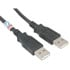 10U2-02115-BK: USB-a Male to USB-a Male 2.0 Cable-Black 15 Feet