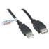 10U2-02115-E-BK: USB-a Male to USB-a Female 2.0 Cable-Black 15 Feet