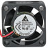 AFB0412LD: 12 Volt DC 40MM Brushless Tubeaxial Fan