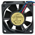 60 x 60 x 25 mm 24V DC Brushless Tubeaxial Fan with 12 Inch Wires 25 CFM