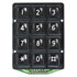 KPD-34-521-R-BLACK: Black 12 Button Keypad 8 Pin Male Header Connection