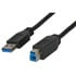 3' Black USB 3.0 Cable - USB-A Male to USB-B Male