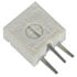 3386X-1-501/63X/72XR: 500ω Square Cermet Trimmer Potentiometer
