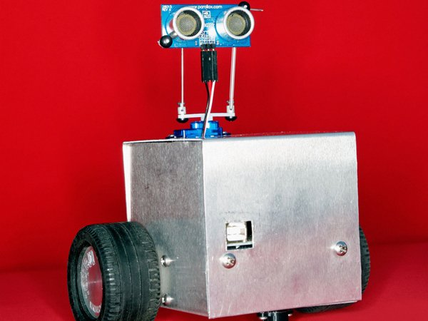 Makey is an autonomous robot that has been programmed to follow objects