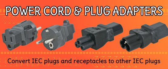 IEC Power Cord and Plug Adapters