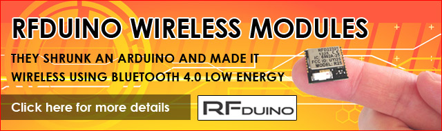 RFDuino Wireless Modules