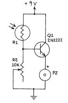 Circuit for the refrigerator alarm