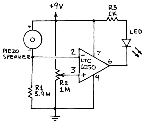 simple vibration sensor no moving parts circuit for the vibration sensor