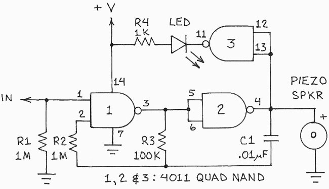 Circuit for the voltage indicator