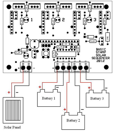 Solar Sequencer on wiring diagram for garage door opener