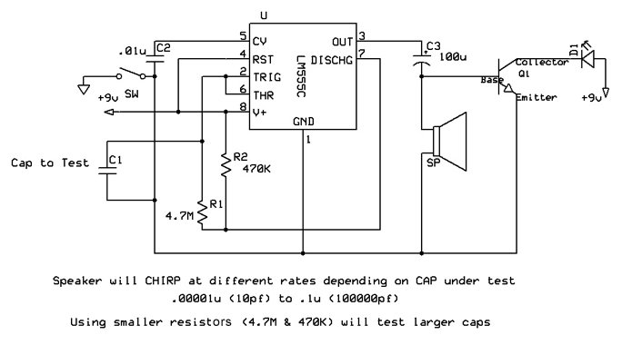 capacitor tester schematic diagram
